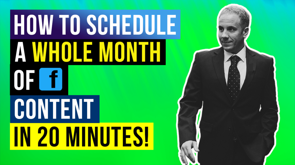 How to Schedule Facebook Posts | A Month's Worth of Content in 20 Minutes? ⏰